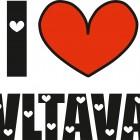 I LOVE VLTAVA (případně název jiné řeky)